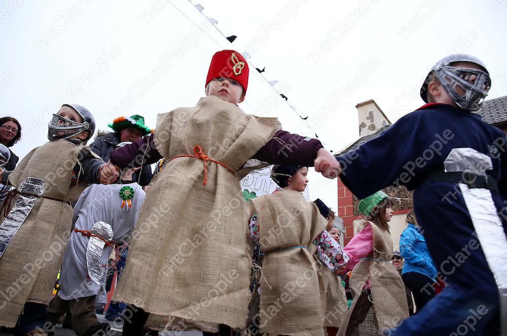16/3/14 Enjoying marching in the Doonbeg St Patrick's day paradel. Pic Tony Grehan / Press 22