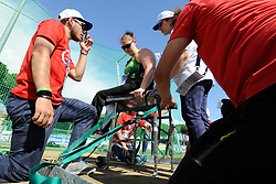 13 / 06 / 2016,  Orla Barry (Ladysbridge, Co. Cork), F57 class, Leevale Athletic Club pictured competing in the Discus, at the 2016 IPC Athletic European Championships in Grosseto, Italy
