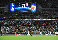 "Football - 2016 / 2017 Champions League - Group E: Tottenham Hotspur vs Monaco""<br /> <br /> The scoreboard with the final result at Wembley Stadium<br /> <br /> <br /> Credit : Colorsport / Andrew Cowie"
