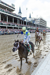 Always Dreaming with John R. Velazquez up wins the 143rd running of the Kentucky Derby at Churchill Downs May 6, 2017.