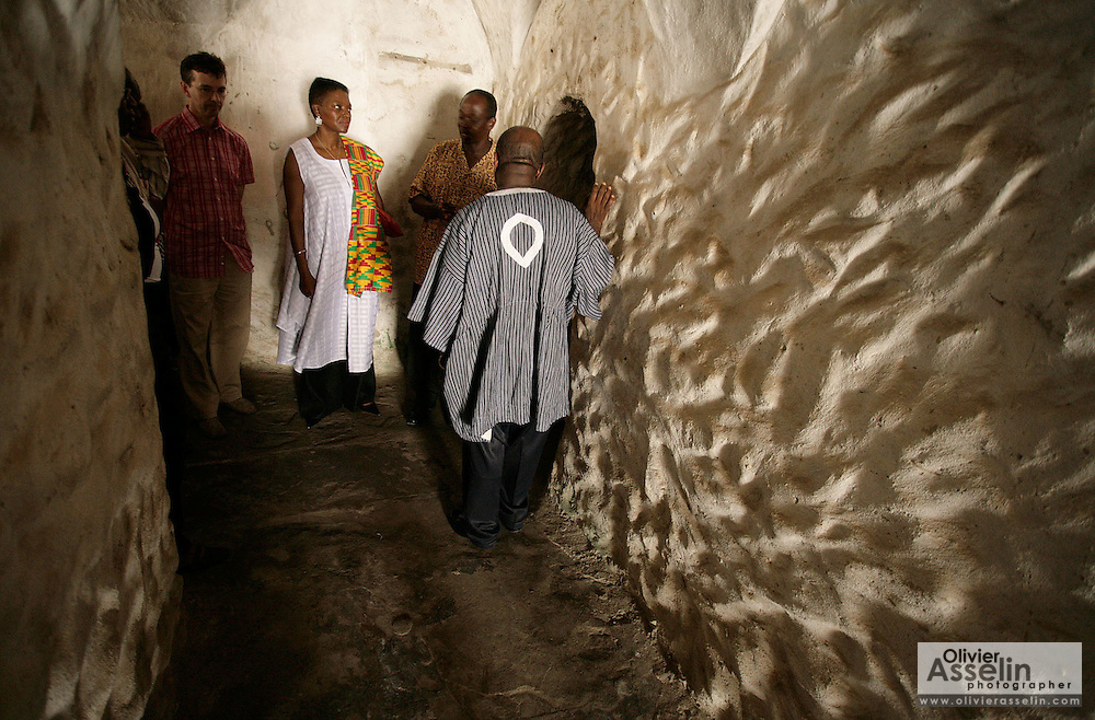 Leader of the House of Lords Baroness Valerie Amos stands in a dark corridor as she visits the former slave fort of Elmina Castle in Elmina, Ghana, on Sunday Mar 4, 2007. Amos was visiting on the occasion of the 200th anniversary of the abolition of slave trade, which coincides with Ghana's 50th anniversary of independence.