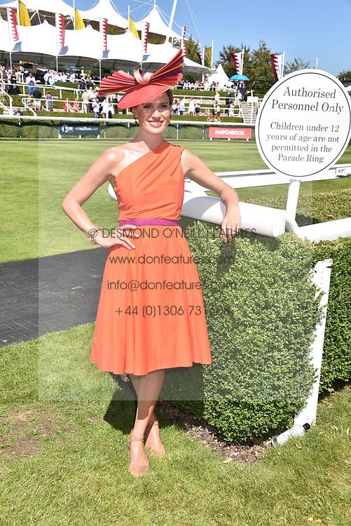 Francesca Cumani at the Qatar Goodwood Festival - Glorious Goodwood, Goodwood Racecourse, West Sussex 02 August 2018.