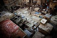 MOROCCO, Fes, December 2010:  Medina, The market area.