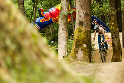 Red bull Wild Ride, mountain bike and bmx competition at dirt park divjina, Krize, Trzic on 21. June, 2014, in Trzic, Slovenia. (Photo by Grega Valancic / Sportida)