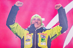 11.02.2019, Aare, SWE, FIS Weltmeisterschaften Ski Alpin, alpine Kombination, Herren, Siegerehrung, im Bild Silbermedaillengewinner Stefan Hadalin (SLO) // Silver medalist Stefan Hadalin of Slovenia during the winner ceremony of the men's alpine combination for the FIS Ski World Championships 2019. Aare, Sweden on 2019/02/11. EXPA Pictures © 2019, PhotoCredit: EXPA/ Dominik Angerer