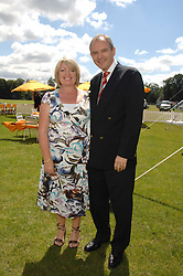 GRAHAM & MICHELLE BOYES he is MD of Veuve Clicquot, at the final of the Veuve Clicquot Gold Cup 2007 at Cowdray Park, West Sussex on 22nd July 2007.<br />