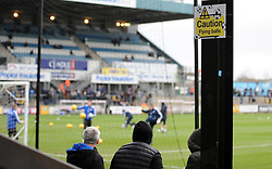 Amusing Health and Safety - Mandatory by-line: Neil Brookman/JMP - 23/12/2017 - FOOTBALL - Memorial Stadium - Bristol, England - Bristol Rovers v Doncaster Rovers - Sky Bet League One