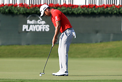 September 23, 2017 - Atlanta, Georgia, United States - Xander Schauffele putts the 18th green during the third round of the TOUR Championship at the East Lake Club. (Credit Image: © Debby Wong via ZUMA Wire)