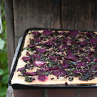 Beet and chard pizza.