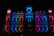 New Zealand, South Island, North Otago, Oamaru Illuminated Opera House