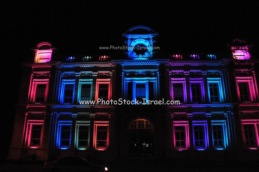 New Zealand, South Island, North Otago, Oamaru Illuminated Opera House
