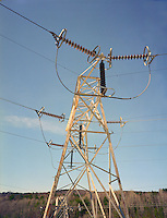 Electric Power lines from Comerford Dam, Monroe, NH