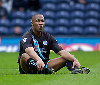 Photo. Glyn Thomas, Digitalsport.<br /> Blackburn Rovers v Leicester City. <br /> FA Barclaycard Premiership. 17/04/2004.<br /> Leicester's Les Ferdinand reflects on his side's crucial 1-0 defeat.