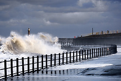 July 21, 2019 - Waves Crashing, Sunderland, Tyne And Wear, England (Credit Image: © John Short/Design Pics via ZUMA Wire)