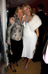 Left to right, ROS PACKER and TANIA BRYER at the annual Chelsea Flower Show dinner hosted by jewellers Cartier at the Chelsea Pysic Garden, London on 22nd May 2006.<br />