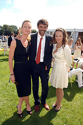 Left to right, LORIEN HAYNES, Actor ALEXANDER SIDDIG and jeweller TARA AGACE at the final of the Veuve Clicquot Gold Cup 2007 at Cowdray Park, West Sussex on 22nd July 2007.<br />
