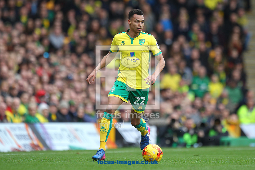 Jacob Murphy of Norwich in action during the Sky Bet Championship match at Carrow Road, Norwich<br /> Picture by Paul Chesterton/Focus Images Ltd +44 7904 640267<br /> 26/02/2017