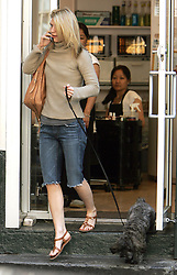 U.S actress Claire Danes, with her pooch dog WeeGee, gets a pedicure and a massage at 'Grand Soho Nail Too!' salon in New York City, NY, USA on May 7, 2007. Photo by Cau-Guerin/ABACAPRESS.COM  | 121956_07 New York City