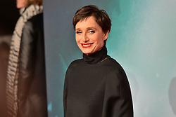 © Licensed to London News Pictures. 06/03/2018. London, UK. KRISTIN SCOTT THOMAS arrives for the European film premiere of Tomb Raider in Leicester Square. Photo credit: Ray Tang/LNP