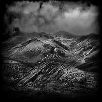 Stormy weather over mountains