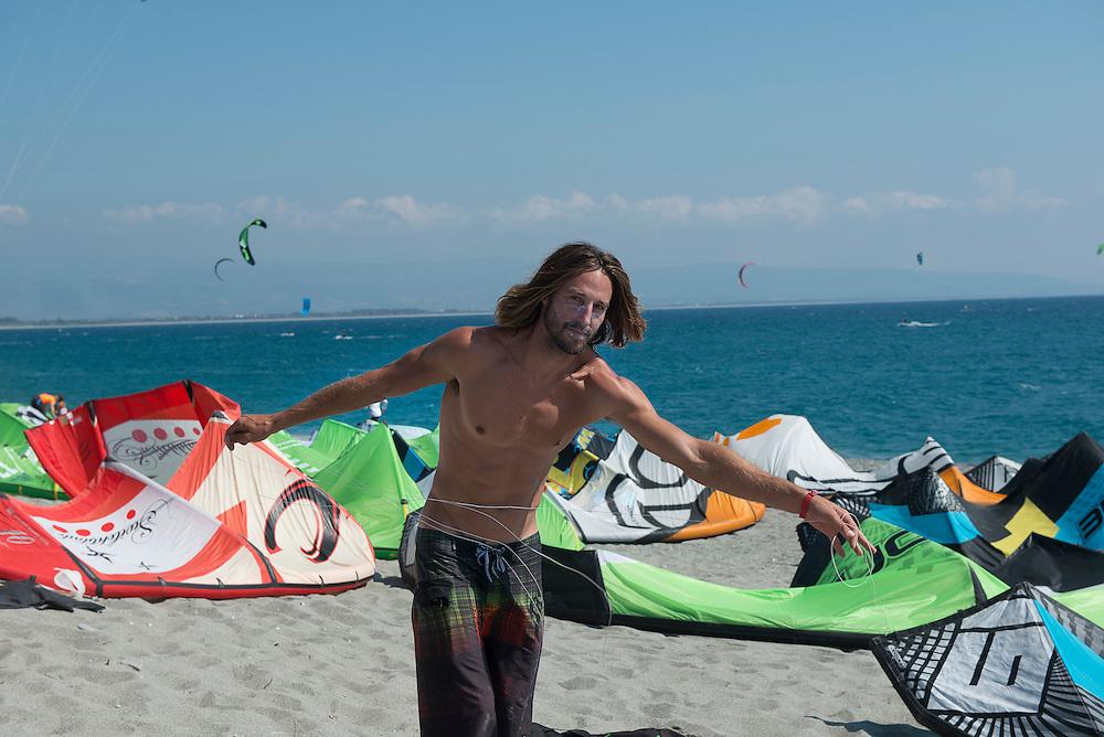 Adam Koch (USA), European Kiteracing Champioship, Gizzeria (CZ), Italy