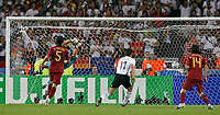Photo: Glyn Thomas.<br />Germany v Portugal. Third Place Playoff, FIFA World Cup 2006. 08/07/2006.<br /> Portugal's goalkeeper Ricardo (second from L) is beaten by Bastian Schweinsteiger's shot as Germany take a 1-0 lead.