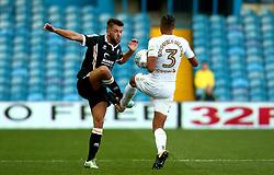 Joe Davis of Port Vale is tackled by Cameron Borthwick-Jackson of Leeds United - Mandatory by-line: Robbie Stephenson/JMP - 09/08/2017 - FOOTBALL - Elland Road - Leeds, England - Leeds United v Port Vale - Carabao Cup