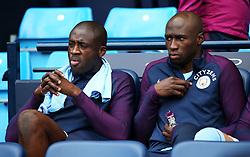 Yaya Toure and Eliaquim Mangala of Manchester City - Mandatory by-line: Matt McNulty/JMP - 14/10/2017 - FOOTBALL - Etihad Stadium - Manchester, England - Manchester City v Stoke City - Premier League