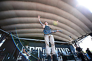 Black Tide performing at the Verizon Wireless Amphitheater in Noblesville, IN on the Uproar Tour on September 17, 2011
