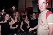 Dancing clubbers and DJ Judge Jules, Club Class, Ikon, Maidstone, Kent, 2002