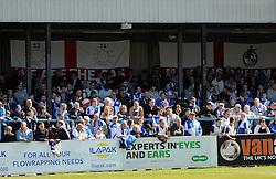 Bristol Rovers fans - Photo mandatory by-line: Neil Brookman/JMP - Mobile: 07966 386802 - 18/04/2015 - SPORT - Football - Dover - Crabble Athletic Ground - Dover Athletic v Bristol Rovers - Vanarama Football Conference