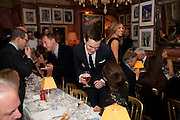 MATTHEW FREUD; Nicholas Hoult, Graydon Carter hosts a diner for Tom Ford to celebrate the London premiere of ' A Single Man' Harry's Bar. South Audley St. London. 1 February 2010