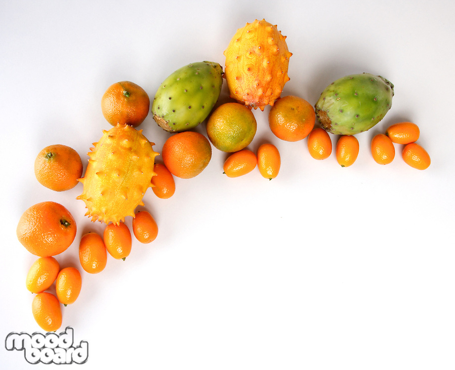 Studio shot of exotic fruits