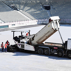 Illustration picture shows the construction site of Stade Jean Bouin during a press conference on July 10, 2019 in Paris, France. (Photo by Anthony Dibon/Icon Sport)