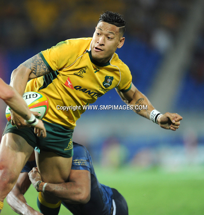 ISRAEL FOLAU - AUSTRALIA -  PHOTO: SCOTT DAVIS - SMPIMAGES.COM - AUSTRALIA V ARGENTINA, 13th SEPTEMBER 2014 - Images from the Australian Wallabies V Argentina Pumas Rugby Championships test match, being played at  CBUS Super Stadium, Robina, Gold Coast. This image is for Editorial Use Only. Any further use or individual sale of the image must be cleared by application to the Manager Sports Media Publishing (SMP Images). PHOTO : Scott Davis SMP IMAGES
