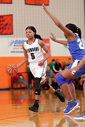 28 December 2017: State Farm Holiday Classic Coed Basketball Tournament at Normal Community High School in Normal IL<br /> <br /> SFHC - Large School Girls Chicago Simeon Wolverines v Richwoods Knights