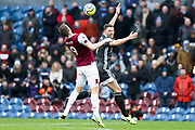 Burnley midfielder Ashley Westwood chest down the ball during the Premier League match between Burnley and Leicester City at Turf Moor, Burnley, England on 19 January 2020.