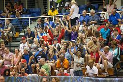 Montana fans support their team.  2016 Paradise Jams Men's Basketball Tournament.  Montana v NC State.  UVI Sports & Fitness Center.  St. Thomas, USVI.  18 November 2016.  © Aisha-Zakiya Boyd