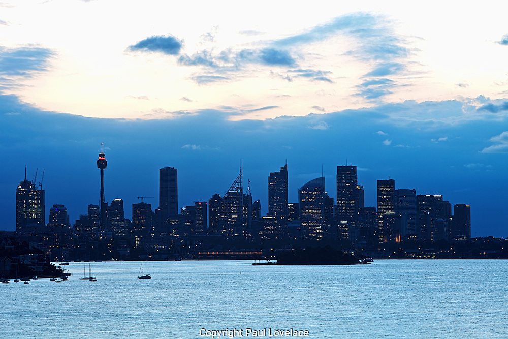 A view of Sydney Cityscape from Hermitage Foreshore, Queens Beach, Sydney, Australia..08.10.12