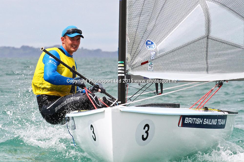 Giles Scott (GBR) 2014 World Champion - Race 9  Finn Gold Cup Takapuna