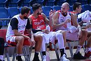 Marco Belinelli,Andrea Cinciarini,Marco Cusin<br /> Nazionale Italiana Maschile Senior<br /> Eurobasket 2017<br /> Allenamento<br /> FIP 2017<br /> Telaviv, 30/08/2017<br /> Foto Ciamillo - Castoria/ M.Longo