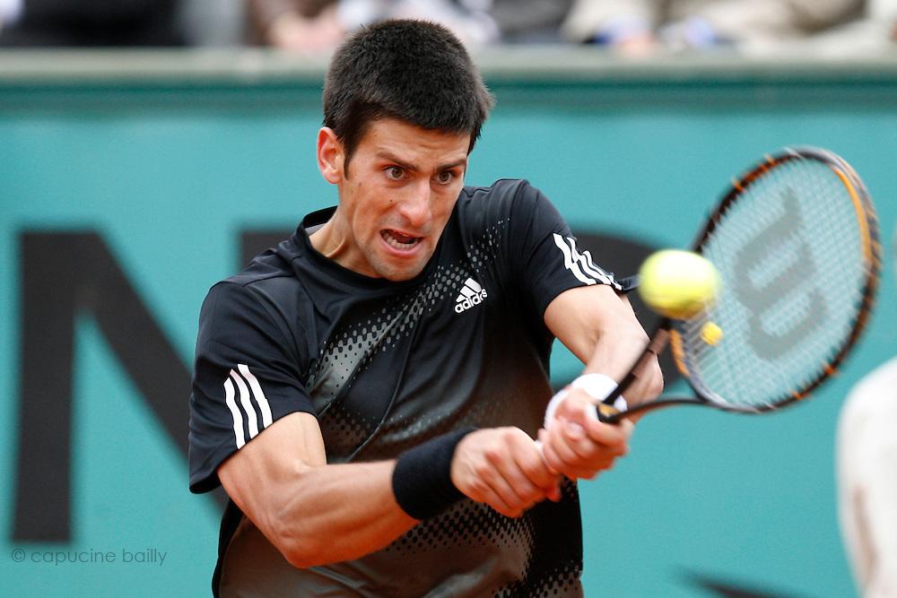 Tuesday June 3rd 2008. Roland Garros. Paris, France. .Novak DJOKOVIC against Ernest GULBIS..Tennis French Open. 1/4 Finals...