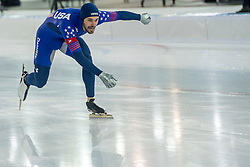 10-12-2016 NED: ISU World Cup Speed Skating, Heerenveen<br /> Team sprint USA Mitchell Whitmore