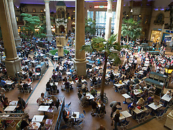Busy food court at Centro one of Europe's largest shopping mall in Oberhausen Germany