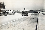 road with panoramic view of the city Sale in Morocco 1930s