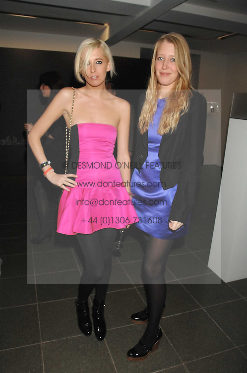 Left to right, the HON.SOPHIA HESKETH and ALICE ROTHSCHILD at a party to celebrate the launch of DKNY's new fragrance for women Delicious, held at The Serpentine Gallery, Kensington gardens, London on 12th December 2007.<br />