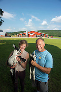 Allison Hooper and Bob Reese, Ayer's Brook Goat Dairy Farm in Randolph, Vermont.