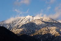 Mount Baldy Peak at Sunset, Angeles National Forest, California