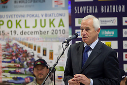 Peter Zupan at press conference of Slovenia Biathlon team before new season 2010 - 2011, on November 24, 2010, in Emporium, BTC, Ljubljana, Slovenia.  (Photo by Vid Ponikvar / Sportida)