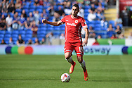 Federico Macheda of Cardiff city in action. Skybet football league championship match, Cardiff city v Norwich city at the Cardiff city Stadium in Cardiff, South Wales on Saturday 13th Sept 2014<br /> pic by Andrew Orchard, Andrew Orchard sports photography.